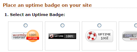 Uptime badges